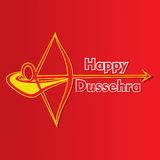 Happy dussehra greeting card design Stock Photography
