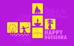 Happy Dussehra Royalty Free Stock Photography