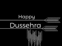 Happy Dussehra. Indian festival celebration. The inscription on black background with arrows. Vector. Illustration Stock Images