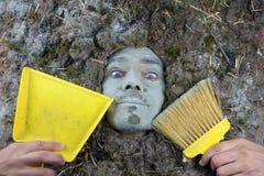 Happy dust man Royalty Free Stock Photography