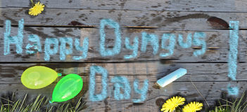 Happy Dyngus day! royalty free stock photo