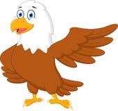 Happy eagle cartoon waving Stock Images