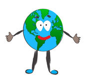 Happy Earth Stock Image