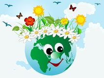 Happy earth Royalty Free Stock Photo