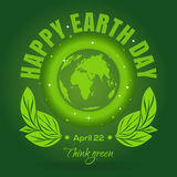 Happy Earth Day. April 22. Earth Day poster design Royalty Free Stock Image