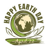 Happy Earth Day. April 22 Stock Photo