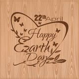 Happy Earth Day. April 22. Lettering card Royalty Free Stock Photography