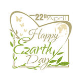 Happy Earth Day. 22 April. Typographic design Royalty Free Stock Photos