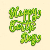 Happy Earth Day card, hand lettering Royalty Free Stock Photos