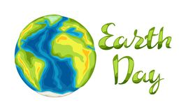 Happy Earth Day card. Illustration for environment safety celebration vector illustration