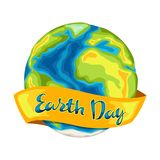 Happy Earth Day card. Illustration for environment safety celebration royalty free illustration