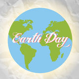 Happy Earth day cartoon design.  Royalty Free Stock Photos