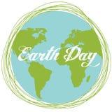 Happy Earth day cartoon design.  Stock Image