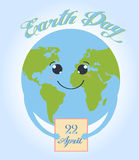Happy Earth day cartoon design.  Royalty Free Stock Image