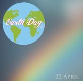 Happy Earth day cartoon design.  Stock Photography