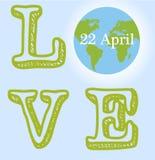Happy Earth day cartoon design.  vector illustration