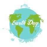 Happy Earth day cartoon design Stock Photography