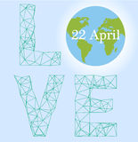 Happy Earth day cartoon design.  Royalty Free Stock Photo