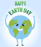 Happy Earth day cartoon design.  Royalty Free Stock Images