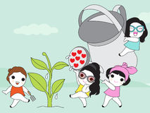 Happy Earth Day Character illustration Royalty Free Stock Images