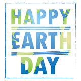 Happy earth day. Colored Earth day graphic design, Vector illustration Royalty Free Stock Photography