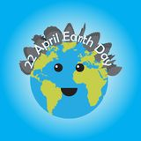 22 April Happy earth day vector design illustration. Happy earth day concept background card Stock Photo