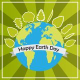 22 April Happy earth day vector design illustration. Happy earth day concept background card Royalty Free Stock Photo