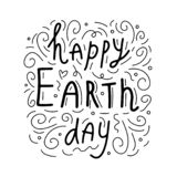 Happy Earth day. Conceptual handwritten phrase. Hand drawn typography poster. T shirt hand lettered calligraphic design. vector illustration