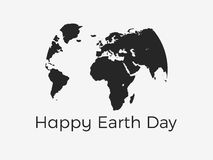 Happy Earth Day. Continents of planet earth on a white background. Vector Royalty Free Stock Image