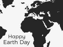 Happy Earth Day. Continents of planet earth on a white background. Vector Stock Images