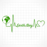 Happy Earth Day. Creative Happy Earth Day design with wave Greeting stock Stock Photos
