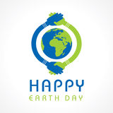 Happy Earth Day. Creative Happy Earth Day Greeting stock Royalty Free Stock Photography