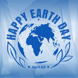 Happy Earth Day design. April 22 Stock Images