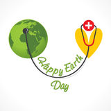 Happy earth day design Royalty Free Stock Photos