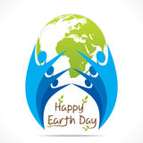 Happy earth day design Royalty Free Stock Photography