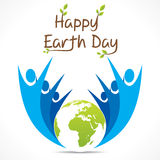 Happy earth day design Royalty Free Stock Images