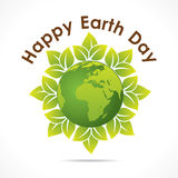 Happy earth day design Stock Photography