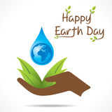 Happy earth day design Stock Images