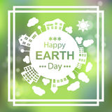 Happy Earth Day. Eco Green Vector Poster Design. 22 april. Royalty Free Stock Photos