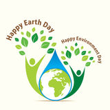 Happy earth day. Happy earth and environment day concept design Stock Image