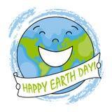 Happy earth day. Happy globe Royalty Free Stock Photos