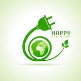 Happy Earth Day greeting. Stock vector Stock Image