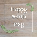 Happy Earth Day hand lettering card, background. vector illustration