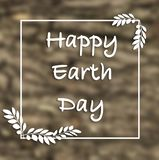 Happy Earth Day hand lettering card, background. stock illustration