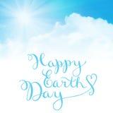 Happy earth day, handmade calligraphy Royalty Free Stock Photo