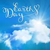 Happy earth day, handmade calligraphy Stock Photos