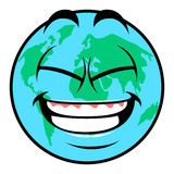 Happy Earth day. Isolated happy earth on a white background, Vector illustration Stock Photos