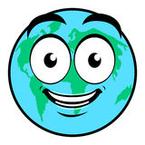 Happy Earth day. Isolated happy earth on a white background, Vector illustration Royalty Free Stock Images
