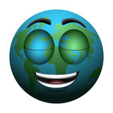 Happy Earth day. Isolated happy earth on a white background, Vector illustration Stock Photography