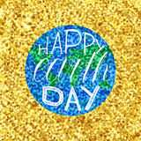 Happy Earth Day Lettering royalty free stock image